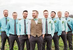 A Rustic Mint and Gold Wedding — See the Photos! | TheKnot.com