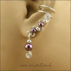 Swarovski Crystal Pearl and Sterling Silver by AdoraBellaJewelry, $26.00 these will be my earings