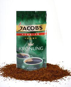 Jacobs Vending Krönung Instant-kaffee ist ein Spitzenkaffee aus den besten Anbaugebieten. Ein löslicher Instantkaffee granulat gefriergetrocknet ideal für Vending Kaffeevollautomaten mit Instant Behälter.