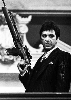 Al Pacino as Tony Montana in Scarface Scarface Film, Scarface Quotes, Scarface Poster, Al Pacino, Film Mythique, Don Corleone, Gangster Movies, Mafia Gangster, Photo Star