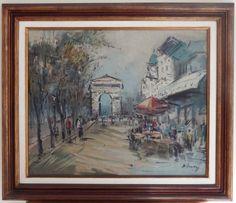 SYLVIO PINTO Paris ost 50 x 61 ass.cid 1963 medida com moldura 69 x 79 cm. Acompanha certif