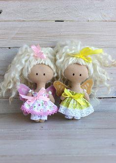 Rosa Schmetterling Puppe Gold butterfly Puppe von NatsDoll auf Etsy