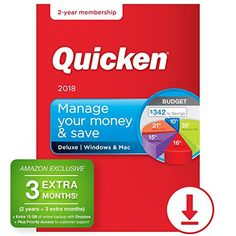 Quicken Deluxe 2018 - 27-Month Personal Finance & Budgeting Software [PC/Mac Download] - Amazon Exclusive - Take the next step toward your financial goals Import all your checking and credit card bank transactions safely and automatically* See where your money is going - your transactions are automatically categorized Stay on top of your spending. Create a budget and manage your bills Import your loan,...