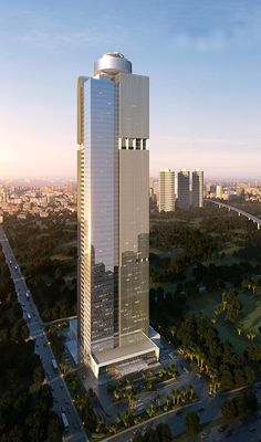 Westin Jakarta, Cemindo Tower or Rasuna Tower, Jakarta, Indonesia by PT. Sekawan Designinc Arsitek :: 63 floors, height - saved by SRIRAM Sacred Architecture, Office Building Architecture, Futuristic Architecture, Beautiful Architecture, Architecture Design, Windows Architecture, Tower Building, Building Structure, Building Design