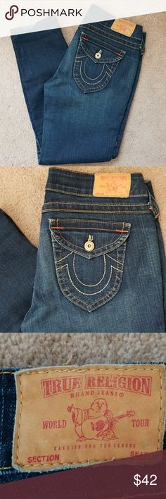 True Religion sz 31 True Religion dk blue wash...  Sz 31x29, has been pro-hemmed.   Thanks for looking at my closet and have a great day!  Nonsmoker  ☆FIVE STAR RATED SELLER ☆ True Religion Jeans Skinny