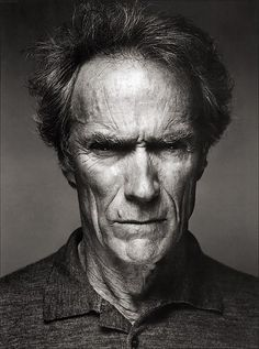 Clint Eastwood #portrait #bw #pinned