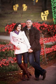 Winter engagement photos at Meadowlark Botanical Gardens
