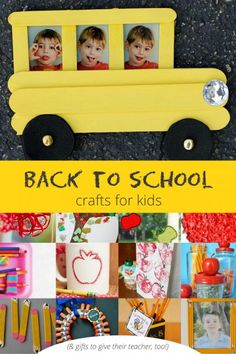 Easy back to school crafts for kids to make