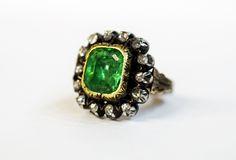 Gorgeous Georgian c1820 #rosecut #emerald #antique