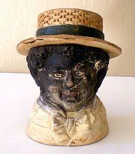RARE Vintage Black Americana Tobacco Jar