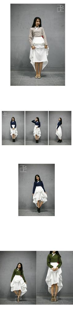 리슬 ; 한복을 일상복으로 입을 순 없을까? DNA from HANBOK.   Love this modern take on traditional hanbok.