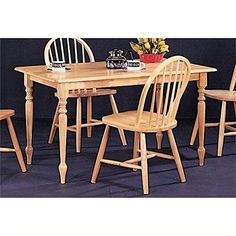 Bowery Hill Dining Table in Warm Natural Wood