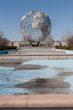 Abandoned  World's Fair Unisphere in  Queens, NY... I went there with my class 8th grade field trip, with St. Ignatius Loyola School!