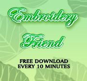 Download free embroidery designs, Bringing you a new free embroidery design every 10 minutes. For Free.