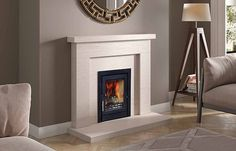 Image result for limestone back panel wood burner