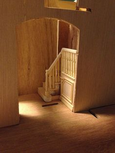 how to: modifying a miniature staircase