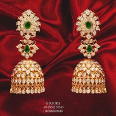 Gold Earrings Designs, Gold Jewellery Design, Gold Designs, Stone Jewelry, Silver Jewelry, Indian Bridal Jewelry Sets, How To Make Notes, Bracelet Making, Jewels