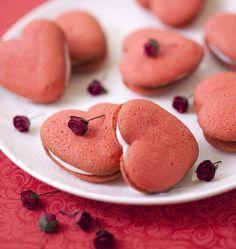 Photo de la recette : Whoopie pies coeur à la vanille pour la Saint-Valentin
