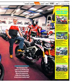 2nd page of our feature by Motorcycle News published 10/12/14