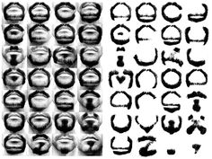 Designer Michael Allen spent nearly two years shaving his facial hair into every letter of the alphabet. The result is Alphabeard Beardface, a typeface made from high contrast photos of his facial hair. Alphabet, Typography Letters, Typography Design, Hand Lettering, High Contrast Photos, Create Font, Photoshop, Comic Sans, Hair And Beard Styles