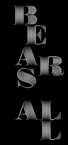 Bespoke Font Build by Steve Hanzic, via Behance