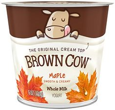 Brown Cow, Cream Top Yogurt, Maple | Yogurt is a good source of vitamin B5, and I've recently discovered the Brown Cow brand. I appreciate its simple ingredients!