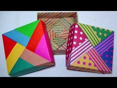 Origami Gift Box, Origami Easy, Paper Crafts Origami, Diy Paper, Origami Weapons, Handmade Toys, Craft Tutorials, Pattern Paper, Fun Crafts