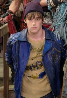 """""""My poor Ben, doesn't look happy to be caught by the evil pirates. Descendants Mitchell Hope, Descendants Mal And Ben, Descendants Wicked World, Descendants Characters, Disney Channel Descendants, Descendants Costumes, Descendants Cast, Dove Cameron, Zachary Gibson"""