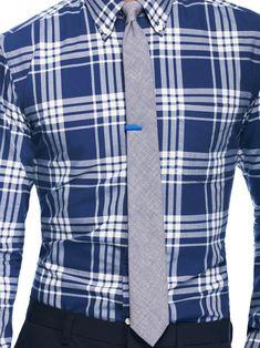 Blue Plaid + gray tie #fashion #style #business   -Social Agility