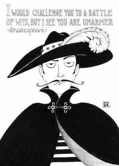 Witty quote by Shakespeare and great illustration by Mary Engelbreit.