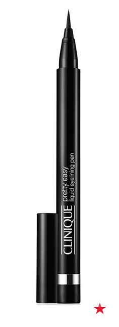 Looking to rock the cat eye this Valentine's Day? Clinque's mistake-proof liquid eyeliner pen is tapered for precision and totally smudge-proof.