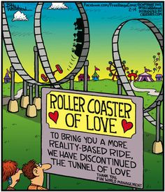 """Free Range"" by Bill Whitehead ~ Roller Coaster of Love more Reality-Based than Tunnel of Love"