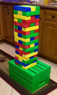 Giant Jenga ( Custom Colors ) by SDWoodDesigns on Etsy https://www.etsy.com/listing/488658869/giant-jenga-custom-colors