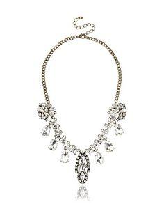 Leslie Danzis Crystal Drop Necklace