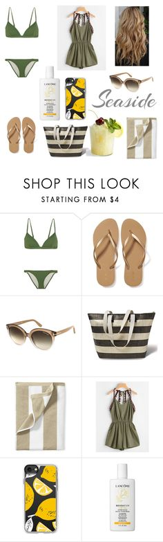 """Beach life🍹"" by cdimi777 ❤ liked on Polyvore featuring beauty, Eberjey, Old Navy, Tom Ford, Serena & Lily, Casetify and Lancôme"