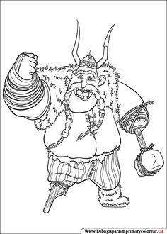 Dibujos de Cómo entrenar a tu Dragón para Imprimir y Colorear