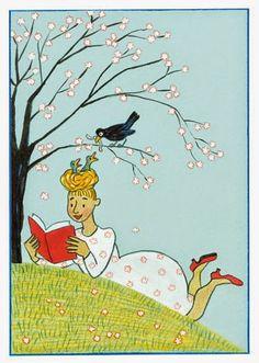 Pinzellades al món: Llegint a la fresca / Leyendo a la fresca / Reading in the fresh