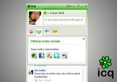 """""""O que está acontecendo agora?"""" Conecte todas as suas principais redes sociais ao ICQ e atualize seu status num clique! http://lifestream.icq.com/settings"""