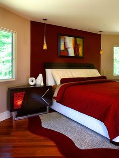 bedroom ideas on pinterest red accent walls bedroom red