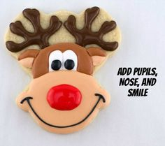 Rudolph The Red-Nosed Reindeer Cookies with Semi Sweet Designs {Guest Post}