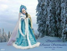 Anna Hardman Dolls... she calls this doll snow maiden... interesting