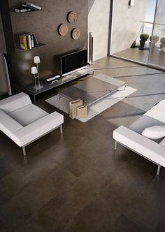Concrete Moka 44,3x89,3 cm. | Arcana Tiles | Arcana Ceramica porcelain tile | porcelánico para pavimento y revestimiento