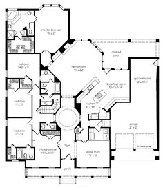 Floor Plans AFLFPW16202 - 1 Story Farmhouse Home with 4 Bedrooms, 3 Bathrooms and 3,162 total Square Feet
