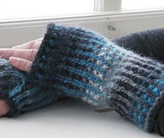 Free Knitting Pattern for Isadora Mitts - Easy slip stitch colorwork and multi-color yarn make these stunning mitts by the amazing designer Cornelia Tuttle Hamilton. Quick knit in super bulky yarn.