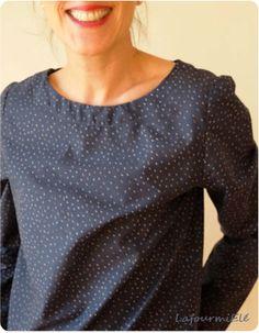 blouse atelier brunette midnight blue #cousumain #tissu #atelierbrunette