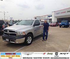 #HappyAnniversary to Steve  Hudson on your 2013 #Ram #1500 from Shelby Wurmlinger at Randall Noe Chrysler Dodge Jeep RAM!