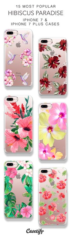 15 Most Popular Hibiscus Paradise Protective iPhone 7 Cases and iPhone 7 Plus Cases. More Tropical Flower iPhone case here > https://www.casetify.com/collections/top_100_designs#/?vc=HbdO4KLT1X