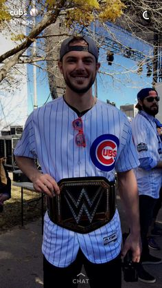 Kris with the Cubs belt