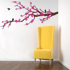 Prosperous Cherry Blossom Removable Vinyl Art Wall Decal
