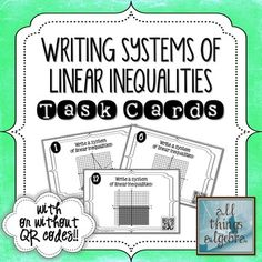 45 Best Linear Inequalities Images On Pinterest Math Classroom